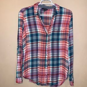 Lucky Brand Flannel Top size small